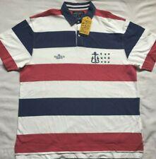 NWT VTG Nautica Jeans Co Mens Big XXL 2XL Polo Shirt Striped Short Sleeve