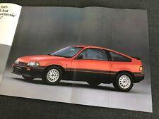 HONDA CRX Coupe Civic S Shuttle Prelude Accord Prospekt Brochure 1984 46