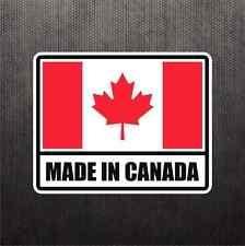 Made In Canada Flag Sticker Vinyl Decal Canadian Maple Leaf Sticker Car Sticker
