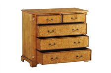 Hampton Burr Walnut Chest of 5 Drawers (Large) Antique Reproduction NEW CHTW002