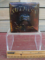 VTGCOLLECTIBLE NUTMEG HINGED TIN HAND PAINTED STENCILED
