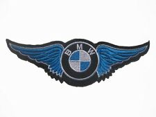 Blue wing BMW MOTOR AUTO Patch embroidered Badge 4.5x15cm