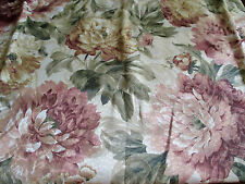 New Floral Valance JCPenney The Home Collection Pink Green Gold Roses 18 x 66