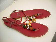 Moschino Cheap and Chic Leather Fruit Charm Sandals Fuchsia Pink 39