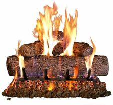 Real Fyre 24-Inch Live Oak Gas Log Set W/ Vented Natural Gas Burner | Match Lit