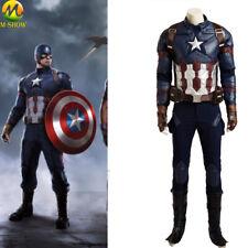 Captain America Civil War Cosplay Costume Steve Rogers Cosplay Suit Halloween