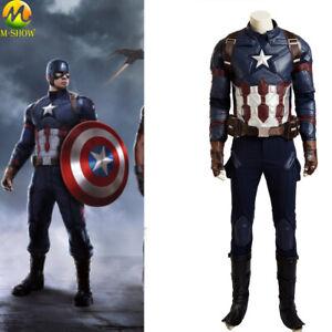 Captain America 3 Cosplay Costume Superhero Steve Rogers Cosplay Suit Halloween