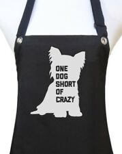 "Dog Grooming Apron ""ONE DOG SHORT OF CRAZY "" pet groomer salon waterproof NEW"