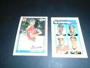 1991 Topps Chipper Jones #333 Baseball Rookie Card RC & 1992 Topps Gold Winner