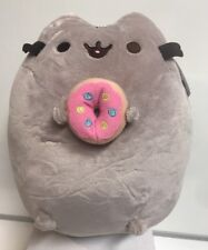 "Gund Stuffed Pusheen Cat 9 1/2"" Eating Donut , New With Tag"