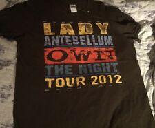 Lady Antebellum 2 Sided Tour 2012 Own The Night T-shirt Size Medium