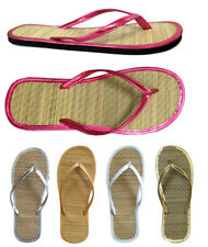 Wholesale Lot 48 Pairs New Ladies Bamboo Flip Flop Sandal Beach -1212 Mix (A)