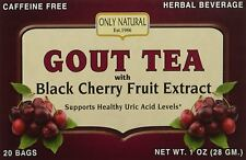 Only Natural Gout Tea Black Cherry Fruit Extract 20 Bags