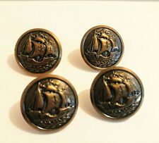 WATERBURY COS CONN Button Lot Of 4 Ships Galeons Sailboats