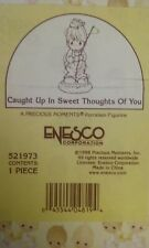 Nib 1998 Precious Moments Figurine # 521973~Caught Up in Sweet Thoughts Of You