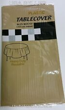 "Table Covers 84"" Round Plastic Tablecloth Table Clothes - Pick Your Color - NEW"