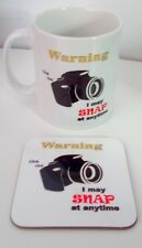 Camera Photography Mug and Coaster set  (New Design)