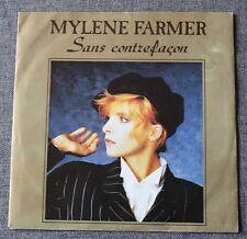 Mylene Farmer, sans contrefaçon / la ronde triste,  SP - 45 tours import