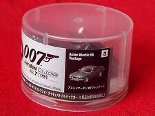 """NEW! 007 James Bond ASTON MARTIN V8 VINTAGE Mini Car Figure 2.4""""  6cm JAPAN / UK"""