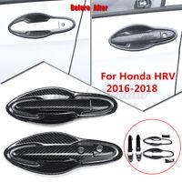 For Honda HR-V HRV 2016-2018 Carbon Fiber Front Handle Door Bowl Cover Trim Car
