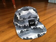Huf 5 Panel volley hat - black white skateboarding photo collage print