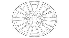 "Genuine Mitsubishi Lancer 2007-current 18""x7 Alloy Wheel 4250B893"