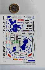 decals decalcomanie decalque peugeot wrc tour de corse 1999  1/43