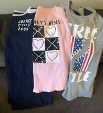 GIRLS JUSTICE LOT OF (3) T-SHIRTS TOPS SIZE 18/20 GRAY BLUE PINK SEQUIN FLIP