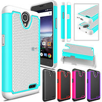 Hybrid Shockproof Rugged Hard Armor Phone Case Cover for ZTE Prestige 2 N9136