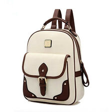 New Leather Women Backpack Vintage Solid Backpacks for Teenage Girls School Bags