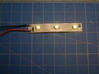 10 éclairages LED Blanc ou Blanc Chaud 12V câblé maquette décor train HO JOUEF
