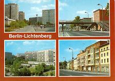 AK, Berlin Lichtenberg, vier Abb., 1985