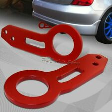 JDM Red Rear Anodized CNC Billet Aluminum Racing Towing Hook Kit Universal 2