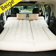 Beige SUV Car Inflatable Mattress Travel Back Seat Air Bed Durable Camping