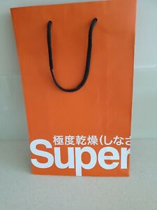 Superdry Small paper Carrier shopping bag 34.5 x 22cm Used Once with Purchase