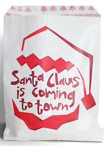 """CHRISTMAS PRINT SWEET / CANDY PAPER BAGS (5 x 7"""") SOLD IN PACKS OF 10, 20⭐⭐⭐⭐"""