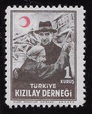 "Turkey 1947 1K  AID FOR THE WOUNDED inscription ""TURKIYE KIZILAY CEMIYETI (BX1)"
