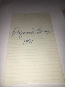 Raymond Berry  HOFer Baltimore Colts Signed 3x5 Album Page