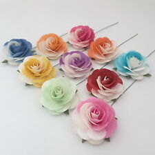 New 25 Mulberry Paper Flowers Wedding Favour Headpiece Scrapbook Cards R42-427H