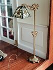 Dollhouse Miniature Kummerow Tiffany Stained Glass Floor Lamp Signed 1:12
