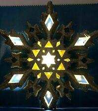 Christmas Led Light 10 in Gold Glitter Tree Topper