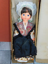 vintage 46cm POUPEE marylin CANTAL costume traditionnel old DOLL alt puppe ROBE