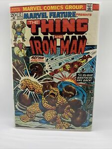 MARVEL FEATURE #12 The Thing, Iron Man Team up FN