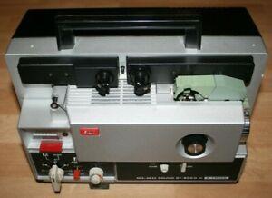 Super 8 Tonfilmprojektor Elmo Sound ST-600 D M 2-Track sehr gut erhalten wie Neu