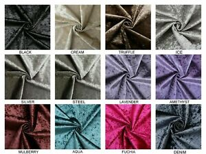 Premium Crushed Velvet Fabric Roll Glitz  Upholstery, Curtains, Cushions Covers