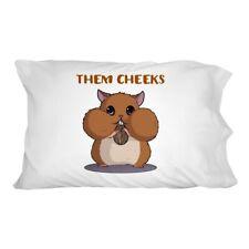 Hamster Them Cheeks Eating Sunflower Seed Novelty Bedding Pillowcase