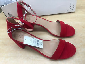 A New Day Size 12 Red Ankle Strap Sandal- Half Price
