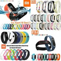 Xiaomi Mi Band 3 2 Adjustable Bangle Soft Silicone Strap Wristband Bracelet OEM