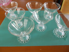 "Candlewick Pattern Sherbet Glasses Lot 7 Clear 3 1/2""  Vintage For Pet Rescue"