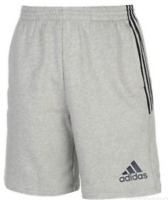 ADIDAS 3S Jersey Shorts Mens MedGrey/Blue XXL  *Ref73